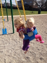 Both swinging